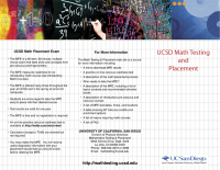 Math Testing & Placement (Brochure)